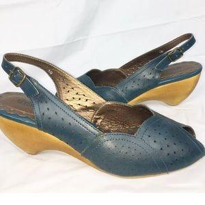 Seychelles Blue slingback heels size 10